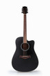 black acoustic guitar