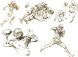 american footbal,different snapshots (hand drawing collection)