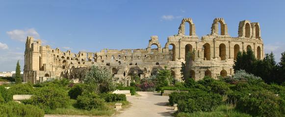 Roman amphitheater of El-Jam, colosseum, Tunisia