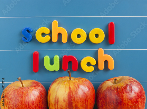 Back to school lunch concept