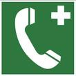 Rettungszeichen - Notruftelefon