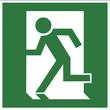 Rettungszeichen - Notasgang links