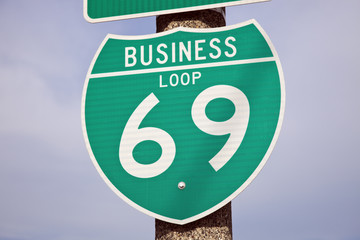 69 Highway sign