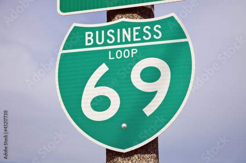 69 Highway sign