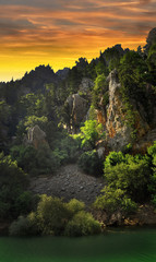 Green Canyon sunset Turkey