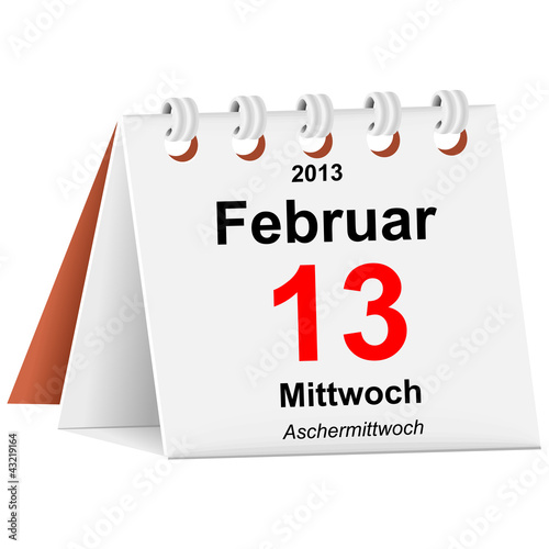 Kalender - 13.02.2013 - Aschermittwoch