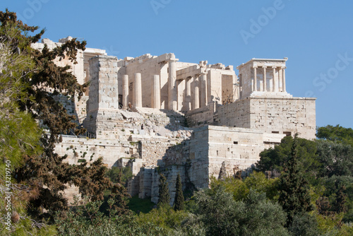Ancient ruins on Acropolis of Athens, Greece