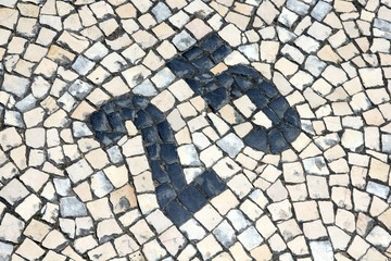 """Cobblestones """"Number"""" (Braga, Portugal)"""