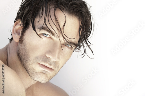 canvas print picture Handsome man up close
