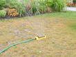 Garden Sprinkler on dry lawn
