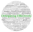 Delegating effectively concept in word tag cloud