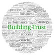 Building Trust concept in word tag cloud