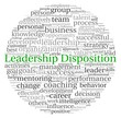 Leadership Disposition concept in word tag cloud