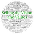 Selling the Vision concept in word tag cloud