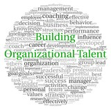 Building Organizational Talent concept in word tag cloud poster