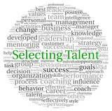 Selecting Talent concept in word tag cloud poster