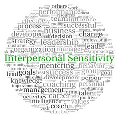 Interpersonal Sensitivity concept in word tag cloud