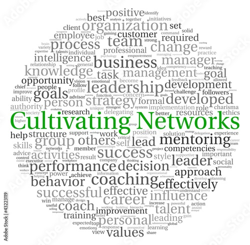 Cultivating Networks concept in word tag cloud