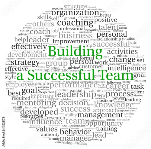 Building a Team concept in word tag cloud