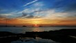 beautiful sunset in balearic islands mediterranean sea