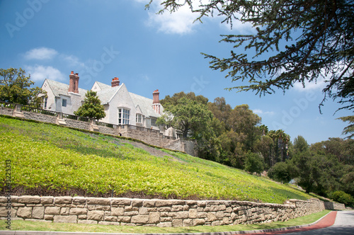 Stone house with beautiful sunny garden