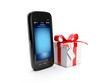 3d illustration: Gift for purchasing a mobile phone