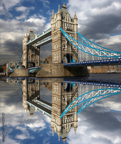Famous Tower Bridge in London, England - 43226727