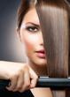 Hair Straightening Irons. Straight Hair