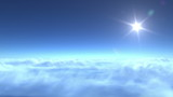 flight over clouds, loop-able 3d animation