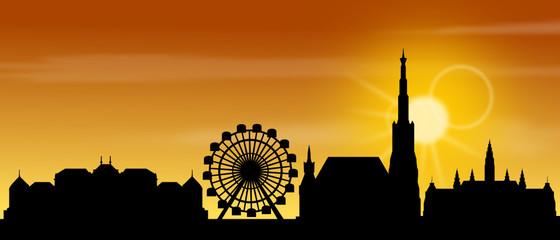 Wien Sonnenaufgang