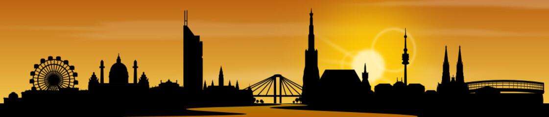 Wien Skyline Sonne