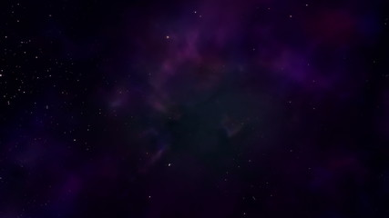 A virtual flight through stars and nebulas. Seamless loop.