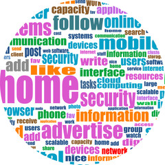 Illustration of social media concept. Social Media Wordcloud