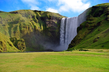 Skogarfoss waterfall in Iceland.