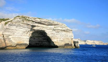 Arch in cliff Bonifacio Corsica France