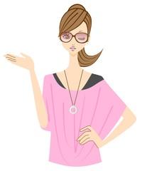 ファッション 女性 案内