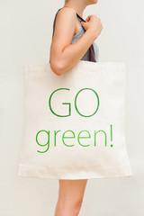 "Flax eco bag ""Go green!"""
