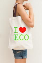 "Flax eco bag ""I love eco"""