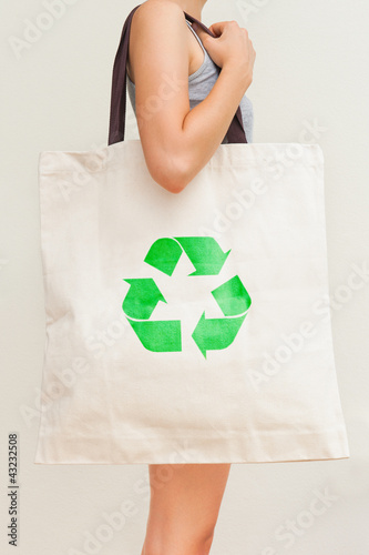 "Flax eco bag ""Recycling"""