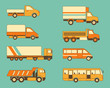 Collection of truks and buses