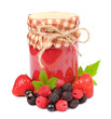 Bank of jam and wild berries