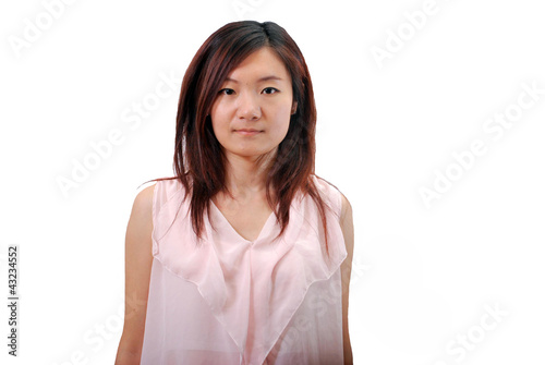 Asian girl with pink dress_2