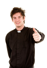 Happy priest