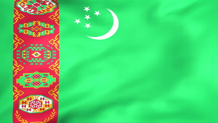 Developing the flag of Turkmenistan