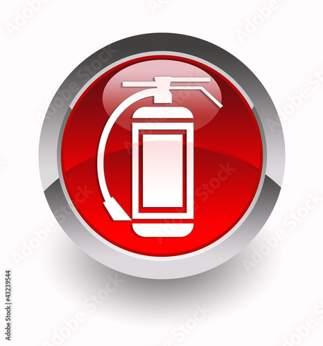 """Fire extinguisher"" glossy icon"