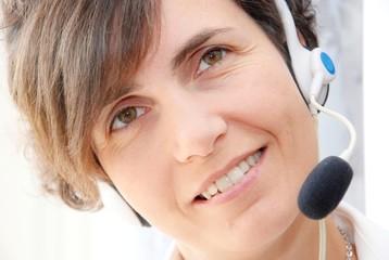 call center,operator woman