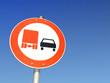 Schild LKW-Überholverbot