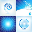 Blue Water Background Set