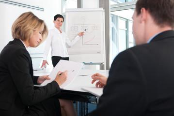 Schulung eines Teams im Besprechungsraum