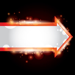 vector abstract background with a red arrow